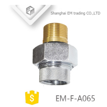 EM-F-A065 Brass nickel-plated copper russia pipe fittings